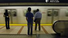 Bayview Station on the Sheppard subway line. (Fred Lum/The Globe and Mail)