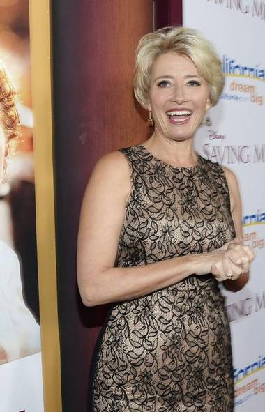 Let the games begin. Here's the charming English actress Emma Thompson at the L.A. premiere of her new film 'Saving Mr. Banks.' How does she maintain her youthful appearance at age 54? (KEVORK DJANSEZIAN/REUTERS)