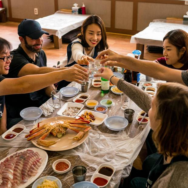 Airbnb's Food Whisperer tours in Seoul include visiting food stalls and sampling local craft beers.