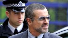 British singer George Michael arrives at Highbury Corner Magistrates Court in London last week for sentencing, after admitting to driving under the influence of drugs and possession of cannabis. (Toby Melville/Reuters)