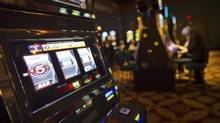 A slot machine at The St. Eugene Resort and Casino in Cranbrook, B.C., which was a former residual school, is shown on Feb. 20, 2013. (John Lehmann/The Globe and Mail)