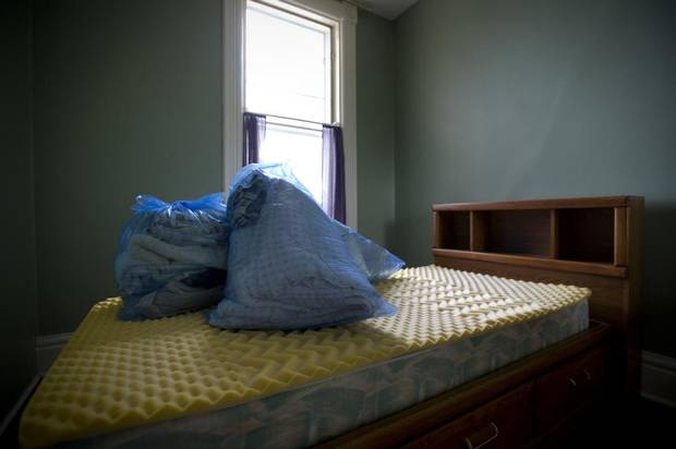 Kim Teske's apartment is packed up in Orangeville, Ont., Friday May 9, 2014. Ms. Teske, who suffered from Huntington's disease, passed away a week earlier.