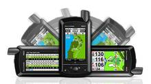 The expensive handheld device delivers exact yardage from your position to any spot on a given hole or green (SkyCaddie SGX)