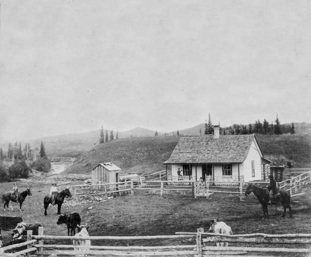 John Ware Ranch in Millarville, Alberta, 1896.
