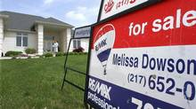 File photo of a home for sale in Springfield, Ill. (Seth Perlman/AP)