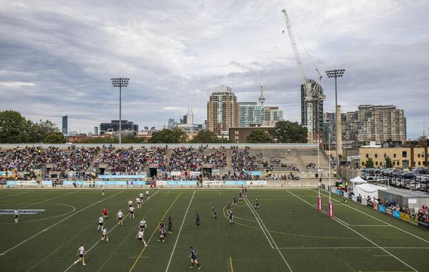 A view of Lamport Stadium, home to the Toronto Wolfpack.