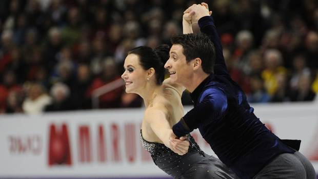 Canadians Tessa Virtue and Scott Moir perform in the ice dance short dance at the ISU World Figure Skating Championships 2013 in London, Ont. Thursday, March 14, 2013. (Kevin Van Paassen/The Globe and Mail)