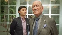 Harry Rosen, right, is Ray Cao's business champion. They are seen together in Harry Rosen's Toronto office. (JENNIFER ROBERTS/Jennifer Roberts for the Globe and Mail)