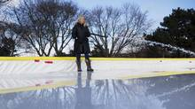 Shelly Raftis helped start a community-made ice rink in Bennington Heights Park in 2008, just one of about 40 in the city. (Matthew Sherwood for The Globe and Mail)