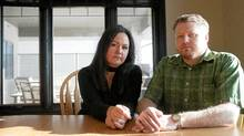 Dawn and Sean Dawson of Saskatoon believe their son Zachary, 13, died while playing the 'choking game.' (Liam Richards/Liam Richards for The Globe and Mail)
