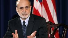 Federal Reserve chairman Ben Bernanke holds a press briefing in Washington on June 22, 2011. (KEVIN LAMARQUE/KEVIN LAMARQUE/REUTERS)