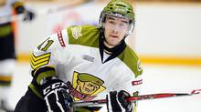 Mike Baird of the North Bay Battalion (Aaron Bell/OHL Images)