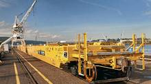TTX railcars at Greenbrier's Gunderson plant in Portland, Ore. (Harold Hutchinson/Greenbrier)