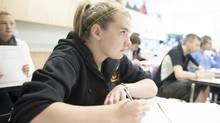 Grade 12 student Zoe Brennan will graduate in a few weeks from the Edge School, a sports focused education program just west of Calgary, Alberta. (Chris Bolin For The Globe and Mail)
