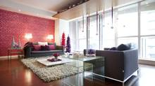 Debbie Travis's living room, photographed Dec. 11, 2012. (Moe Doiron/The Globe and Mail)