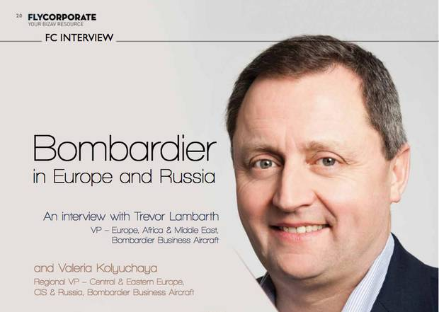 Leaked e-mails obtained by The Globe show that a vice-president in Bombardier's aircraft division, Trevor Lambarth, seen on the cover of FlyCorporate Magazine, flew to Johannesburg and visited Ajay Gupta in early 2014. Shortly after the meeting, a Bombardier sales director contacted the Guptas to offer them a Global 6000, the company's top-of-the-line corporate jet.