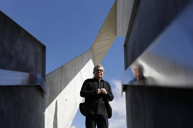 National Holocaust Monument and architect Daniel Libeskind, in Ottawa September 28, 2017.