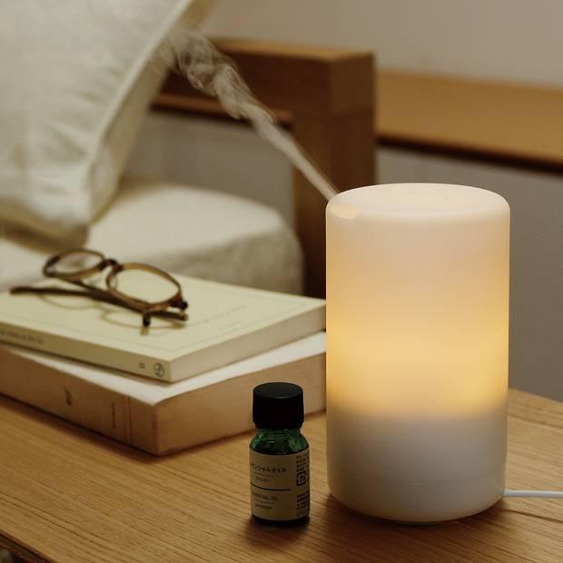 Ultrasonic aroma diffuser, $89 at Muji (www.muji.us).