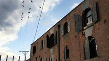 Nineteenth century warehouses now house art and commercial space in Red Hook, Brooklyn. (Michael Falco)