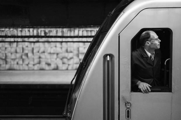 A subway operator at College subway station.