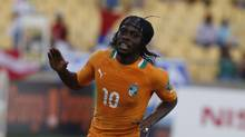 Ivory Coast's Gervinho celebrates his goal against Togo during their African Nations Cup (AFCON 2013) Group D soccer match in Rustenburg, January 22, 2013. (MIKE HUTCHINGS/REUTERS)