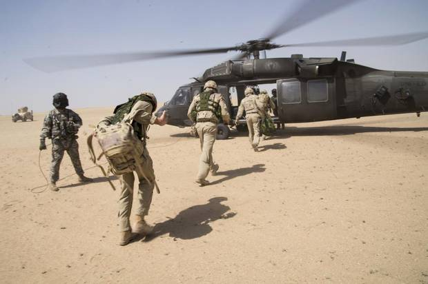 Royal Canadian Air Force members of Air Task Force-Iraq and several members of the coalition participate in the