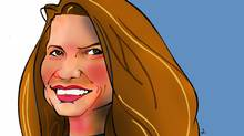 Detail of caricature of Jeannette Walls by Anthony Jenkins (Anthony Jenkins For The Globe and Mail)