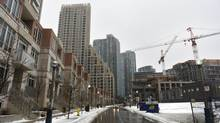 Photos of various condominiums located in the Bathurst St. and Fort York Blvd area of Toronto, Feb. 27, 2013. (Fred Lum/The Globe and Mail)