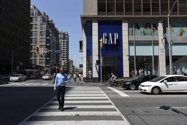 A Gap location on Toronto's Bloor Street.