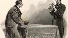 'You see, but you do not observe,' Sherlock Holmes tells his faithful chronicler, Dr. John Watson. In this 1893 illustration from The Adventure of the Yellow Face, the great detective deduces clues from a pipe left behind by a visitor. (Sidney Paget/The Strand Magazine)