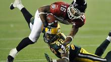 Calgary Stampeders receiver Marquay McDaniel has 37 catches for 539 yards in 10 games this season. (DAN RIEDLHUBER/REUTERS)
