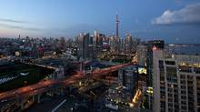 The Toronto skyline photographed from a condo balcony in Toronto June 8, 2012. (Deborah Baic/The Globe and Mail)