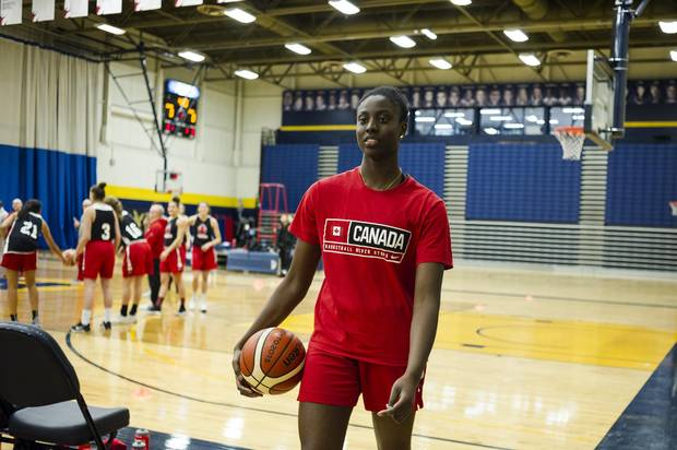 At 15, Laeticia Amihere became the first Canadian woman to dunk during a competitive game.