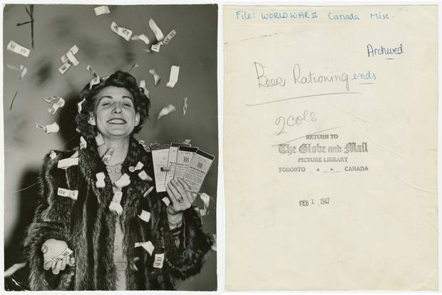 In this image from The Globe and Mail's archives, a woman celebrates the end of beer rationing in 1947. The photo is part of the Scotiabank Contact Photography Festival's Cutline exhibition, which celebrates the complexity of newspaper photography in a 'non-conventional, non-linear way,' according to Roger Hargreaves, one of Cutline's three curators.