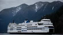 The B.C. Ferries vessel Queen of Oak Bay approaches the dock at the Horseshoe Bay Ferry Terminal upon arrival from Departure Bay in West Vancouver, March 5, 2013. (DARRYL DYCK For The Globe and Mail)
