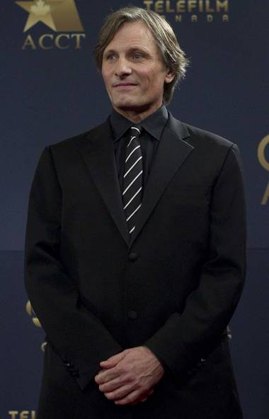 International A-list actor Viggo Mortensen, seen here at the Genie Awards in Toronto last week, wonders what the hell he's doing at the Genie Awards in Toronto last week. (CP)