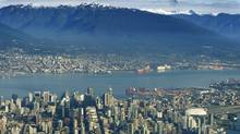 The Vancouver skyline. (JOHN LEHMANN/JOHN LEHMANN/The Globe and Mail)