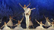 Ballet Kelowna dancers Christina Cecchini and Cai Glover starring with The Canadian School of Ballet dancers in The Nutcracker (2009) (Glenna Turnbull)