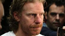 Ottawa Senators team captain Daniel Alfredsson talks to reporters in Ottawa Thursday May 23, 2013. (The Canadian Press)