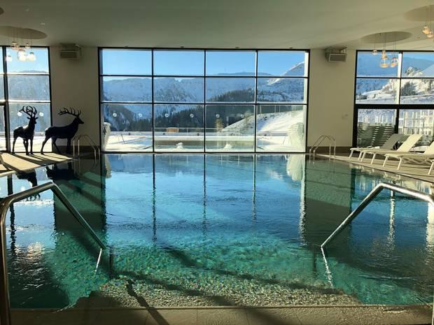 Main indoor pool at Club Med Grand Massif.