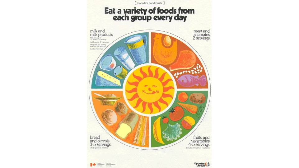 nutrition and food guide servings Not only did the food guide pyramid tell you how many servings of each food group to consume each day (such as 6-11 servings of grains), but it somewhat alluded to how large a single serving actually was.