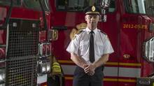 London Deputy Fire chief David Lazenby n Fire Station 1. (Geoff Robins For The Globe and Mail)