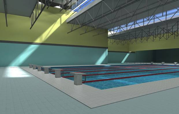 The swimming pool in the new mosque.