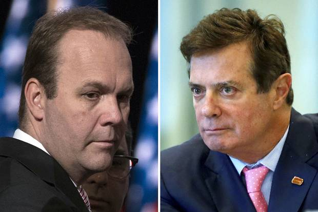 Rick Gates and Paul Manafort are two of the first people to be charged in the FBI-led investigation of the Trump campaign's connections to Russia during the 2016 election.