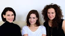 From left to right, Liane Balaban, Kathleen Munroe and Nicola Spunt are co-founders of In Bloom.