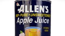 Allen's Apple Juice is one of Lassonde's juice products. (Tibor Kolley/The Globe and Mail)