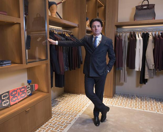 Alex Dumas, Executive Chairman of Hermès Pais, at the company's new Bloor St. West store in Toronto, Nov. 28 2017.