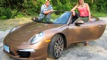 The Globe Drive team of navigator Darren McGee and driver Lorraine Sommerfeld thought a Porsche 911 Carrera would help them win the car rally ... or look good trying.