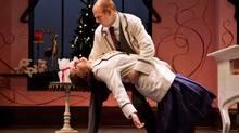 """Patricia Fagan and Oliver Dennis in Soulpepper's """"Parfumerie"""" (Cylla von Tiedemann)"""