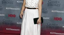 "Cast member Sibel Kekilli arrives for the premiere of the fourth season of HBO series ""Game of Thrones"" in New York March 18, 2014 (LUCAS JACKSON/REUTERS)"